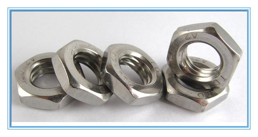 供应正宗不锈钢美制薄型六角螺母