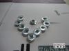4级 DIN6923六角法兰面螺母带齿-蓝白锌