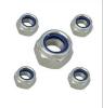 4级 DIN982尼龙防松加厚螺母-蓝白锌