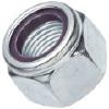 4级  DIN985尼龙锁紧螺母-蓝白锌